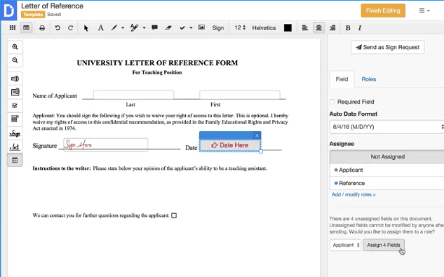 DocHub create PDF forms