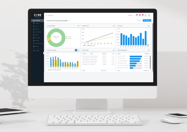 BQE Core Suite screenshot: Actionable Intelligence with Unlimited Live Dashboards