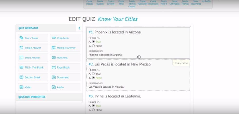 ScriptoPro Software - Create quizzes
