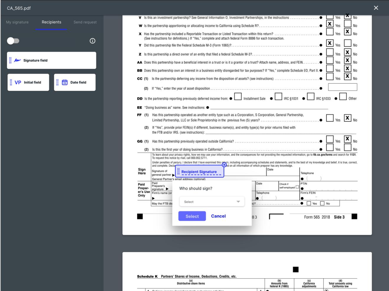 Canopy Software - Canopy e-signature