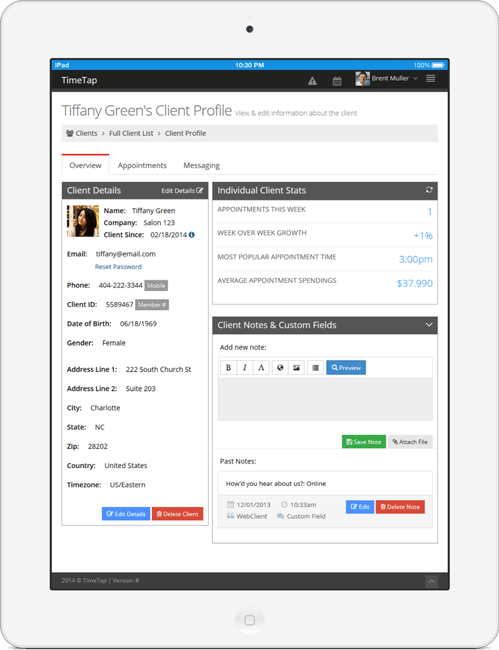 Create client profiles with custom fields