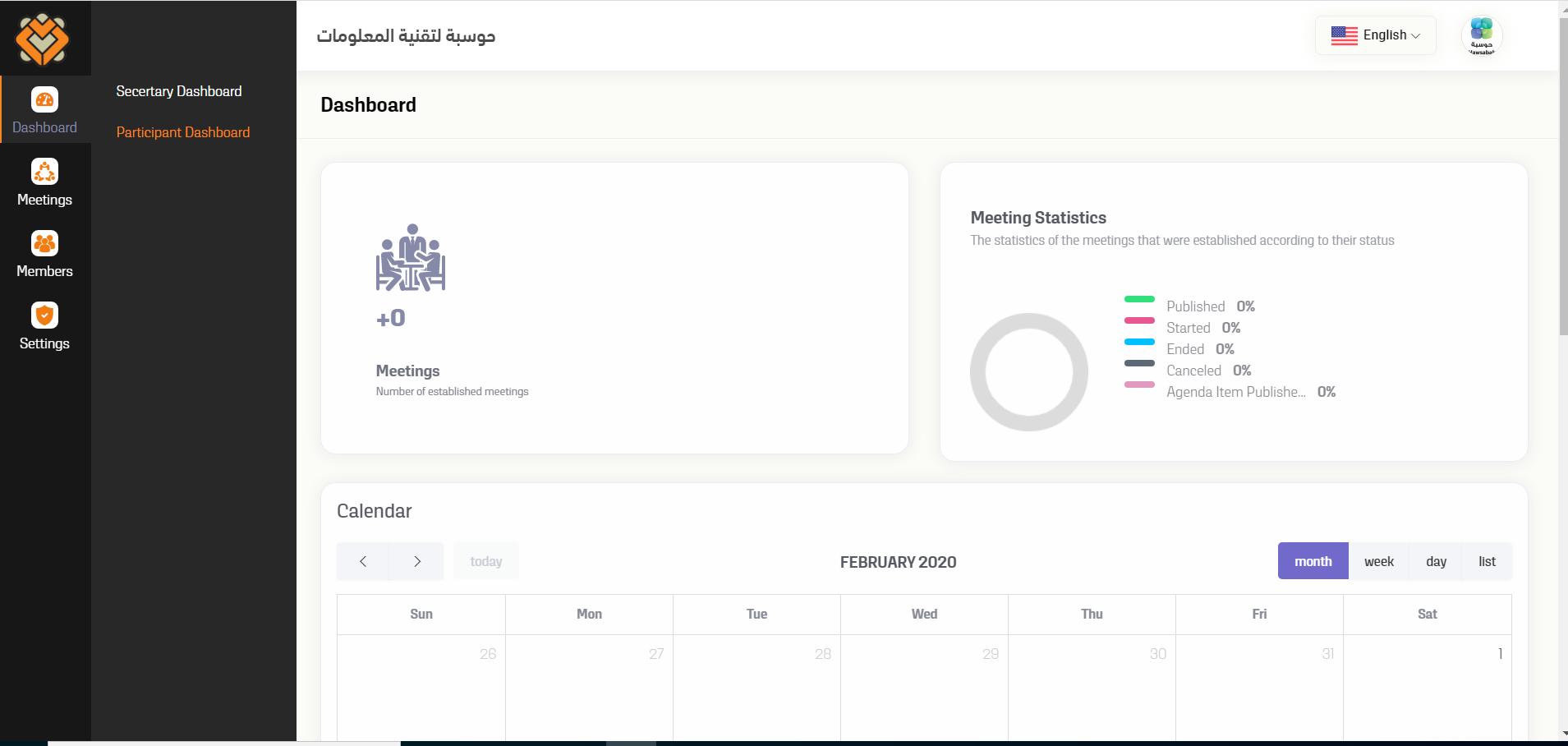 Mjlsi participant dashboard screenshot