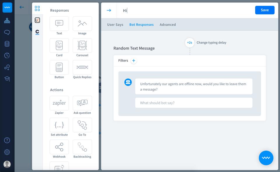 Chatbot Software - ChatBot response customization