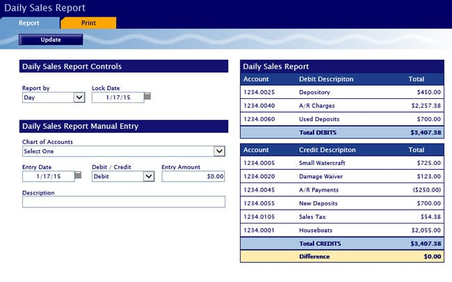 Cobalt Silver Software - Daily sales report