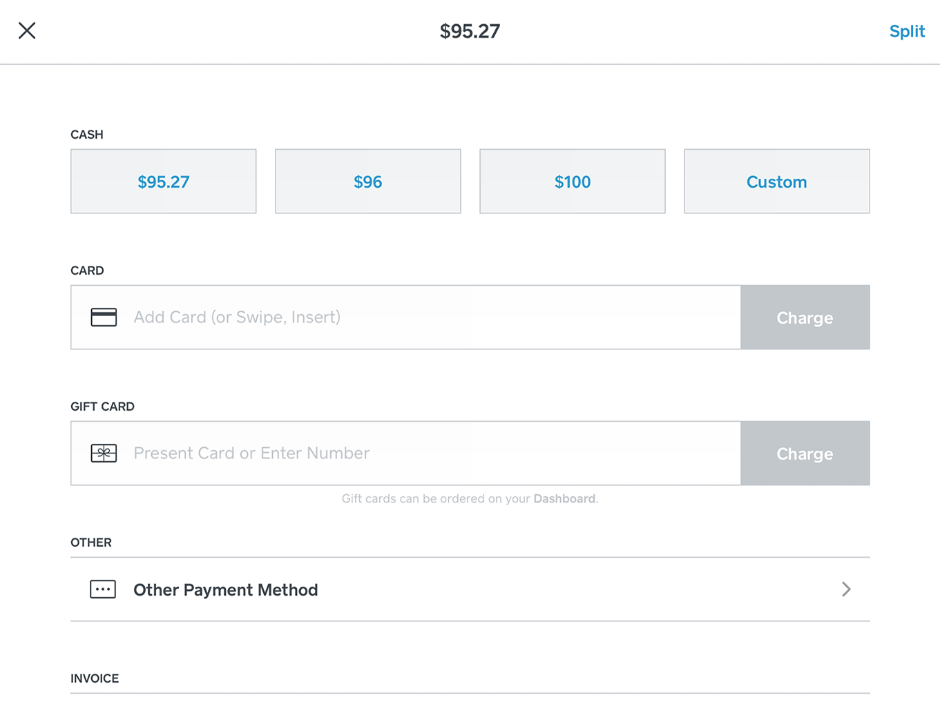 Square for Retail Software - Payment processing