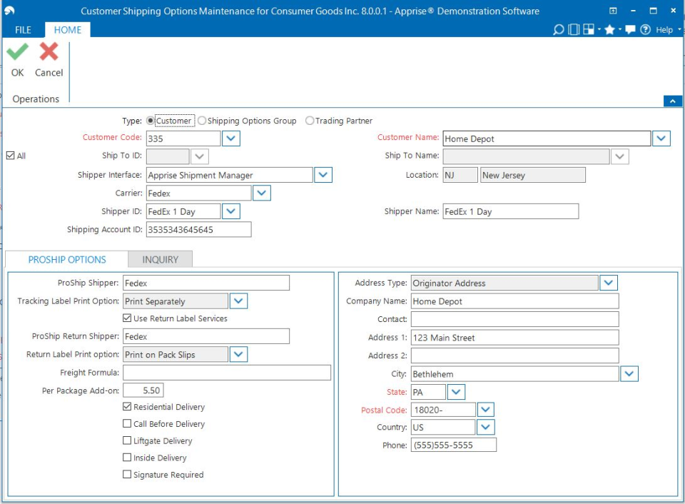 Aptean Distribution ERP Software - Customer Shipping Rules