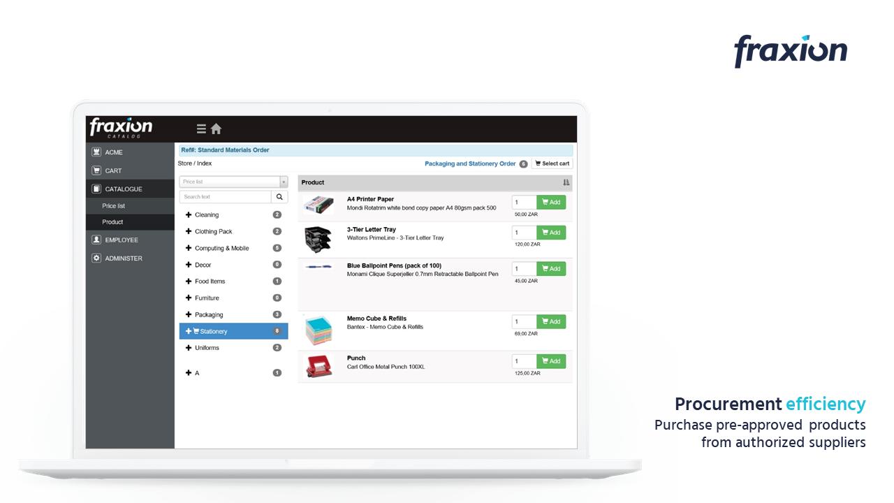 Catalog procurement