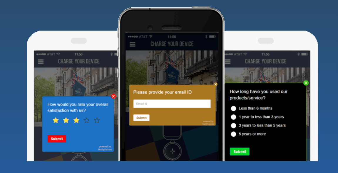 Create in-app feedback surveys to engage with and collect feedback from customers