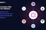GraphCMS screenshot: GraphCMS is the Headless CMS for the Jamstack, integrating with any frontend framework like React, Angular, Vue, Gatsby, and NextJS.