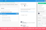 Captura de pantalla de Process Street: Complete workflows as checklists and collaborate with your team