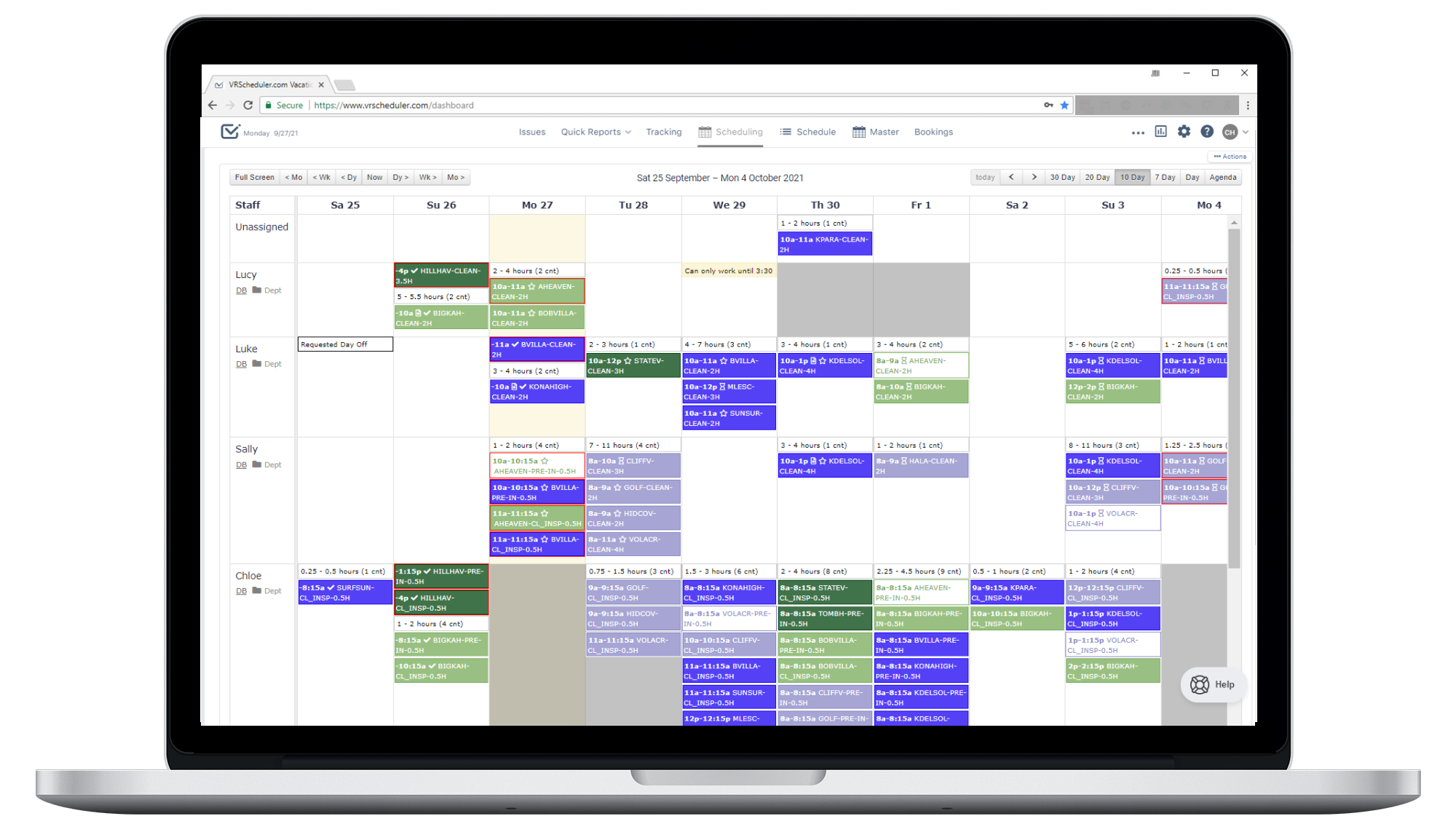 Drag and Drop Scheduling Calendar