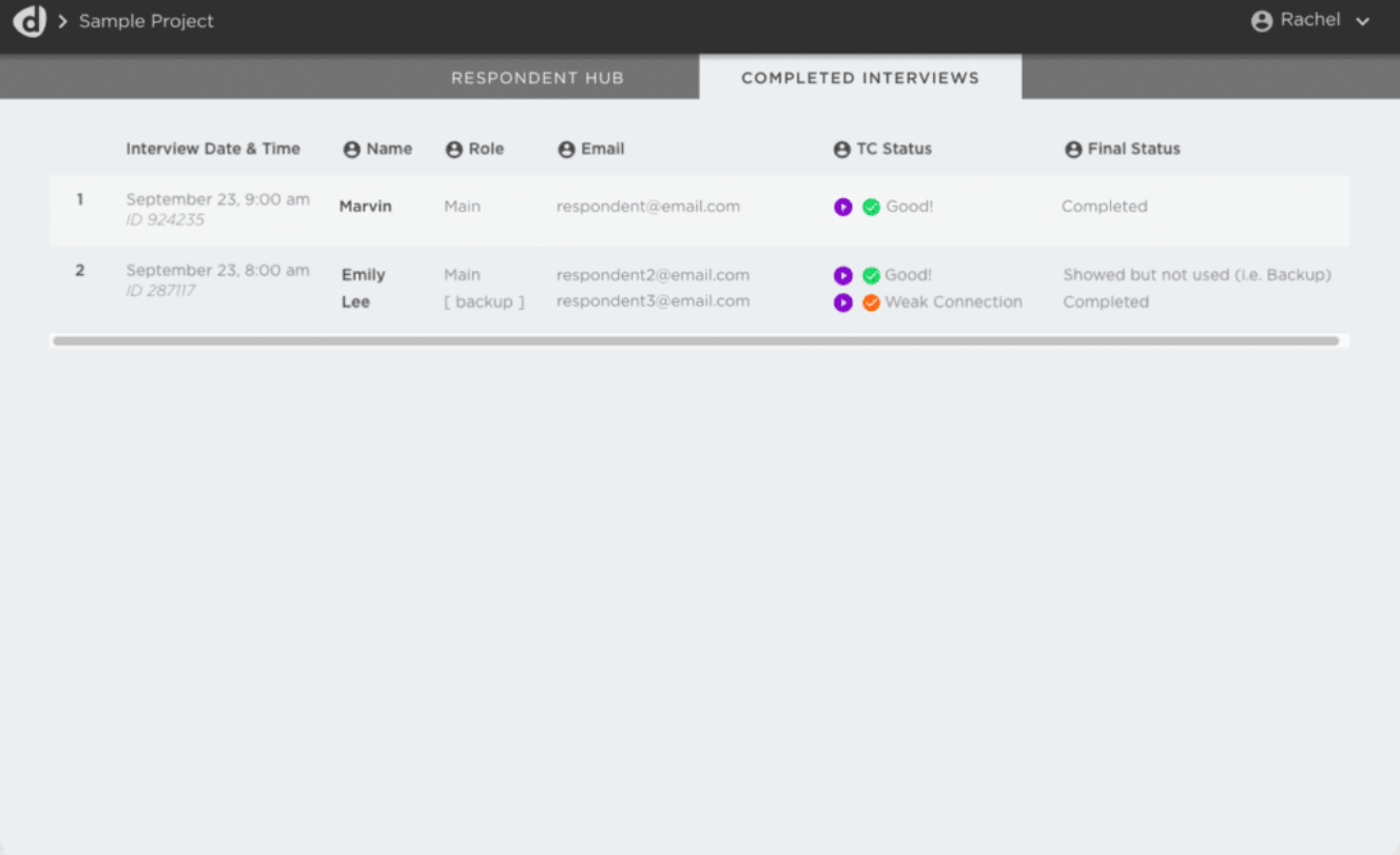 Discuss.io respondent management hub