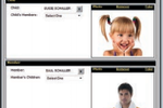 ABC Fitness Solutions screenshot: Attach children to members with a picture for verification and security