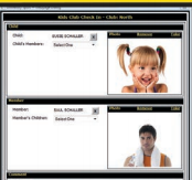 Attach children to members with a picture for verification and security