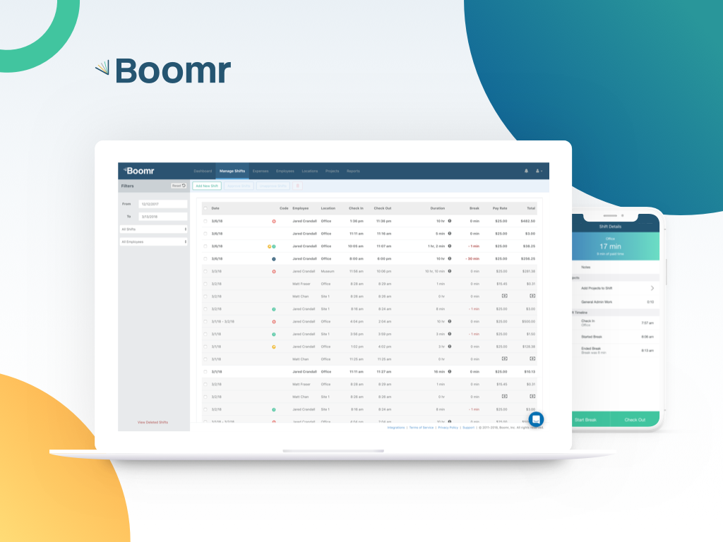 Simplify timesheets, payroll and accounting with Boomr