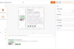 Exclaimer Cloud screenshot: Exclaimer Cloud drag-and-drop signature designer