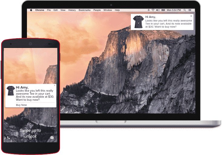 Vizury's Browser Push Notifications work across all devices and websites
