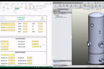 3D CAD Automation screenshot: 3D CAD Automation vertical vessel configurator screenshot