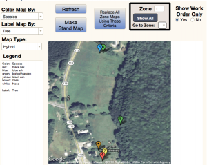 Forest Metrix enables the creation of instant and customizable maps