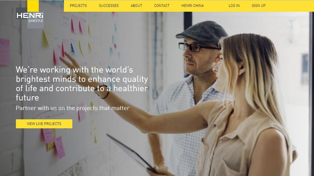 HENRi@Nestle Homepage - Facilitated by Qmarkets