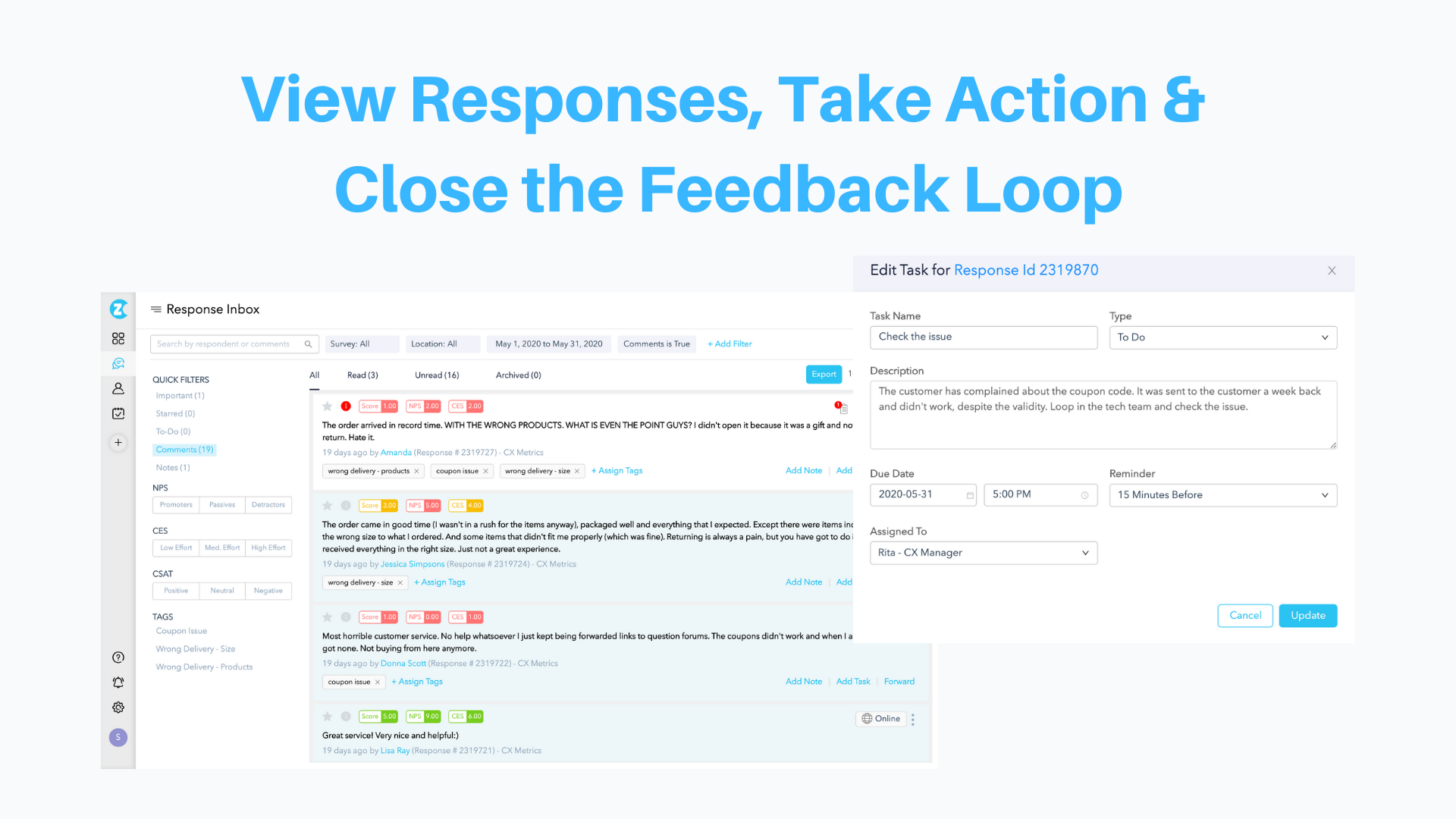 Take Action & Close the Feedback Loop