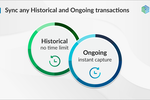 Synder Screenshot: Record historical transactions for an unlimited period