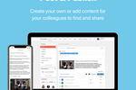 Capture d'écran pour Smarp : Easily add content to the platform using a link or create a personal note, and automatically import content through built-in integrations