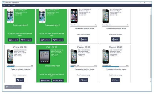 WipeDrive Mobile dashboard view
