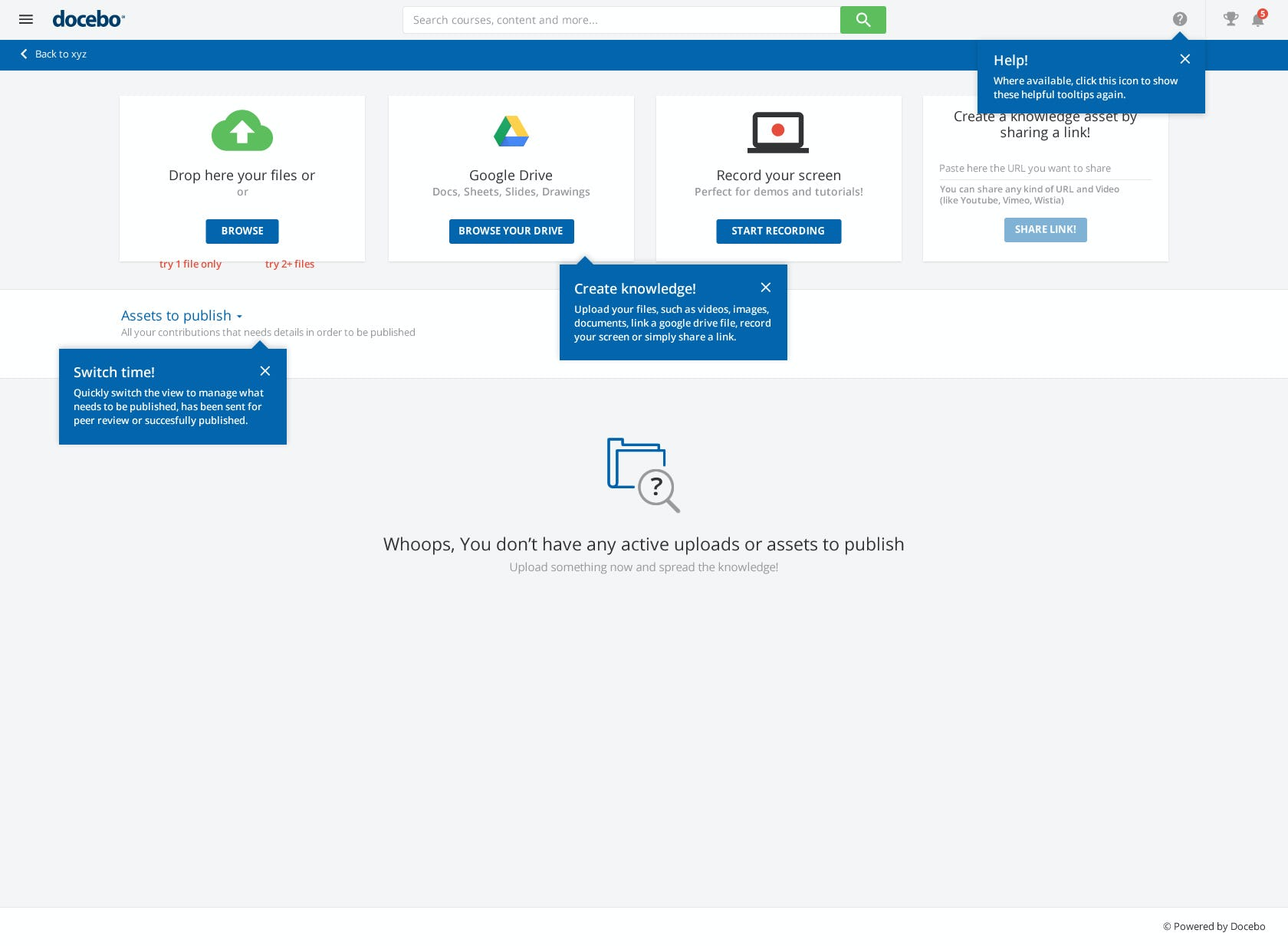 Docebo Software - Contribute UGC