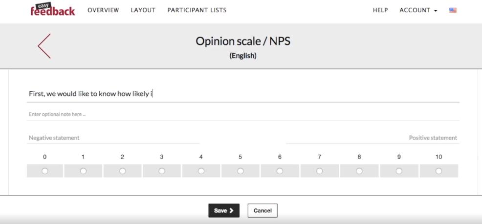 easyfeedback survey creation