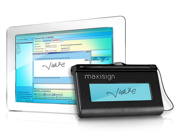 Accept electronic signatures from patients with MaxiSign