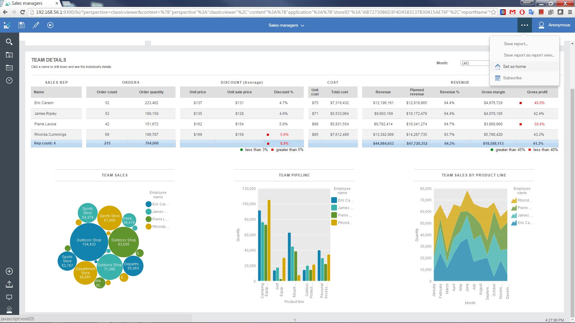 IBM Cognos Analytics Software - Reports