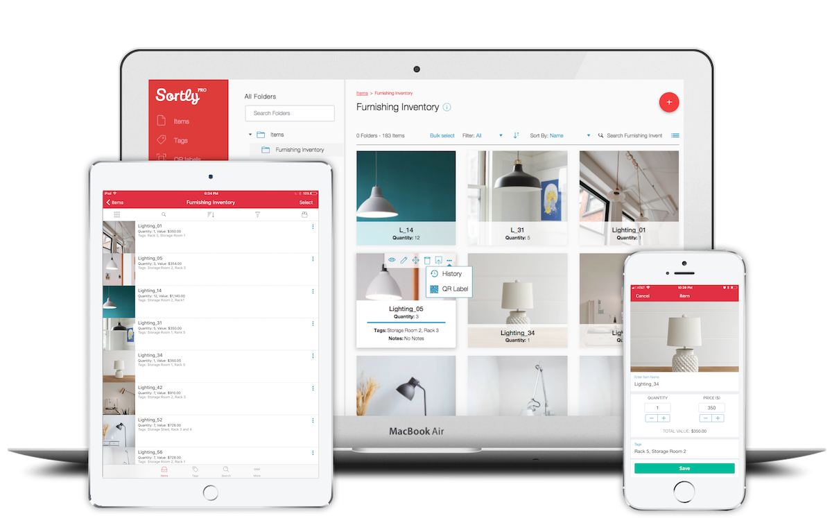 Sortly Software - Sortly Pro multiple items