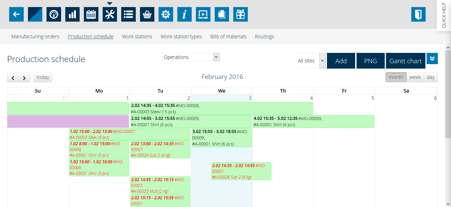 Dynamic rescheduling of manufacturing orders with MRPEasy