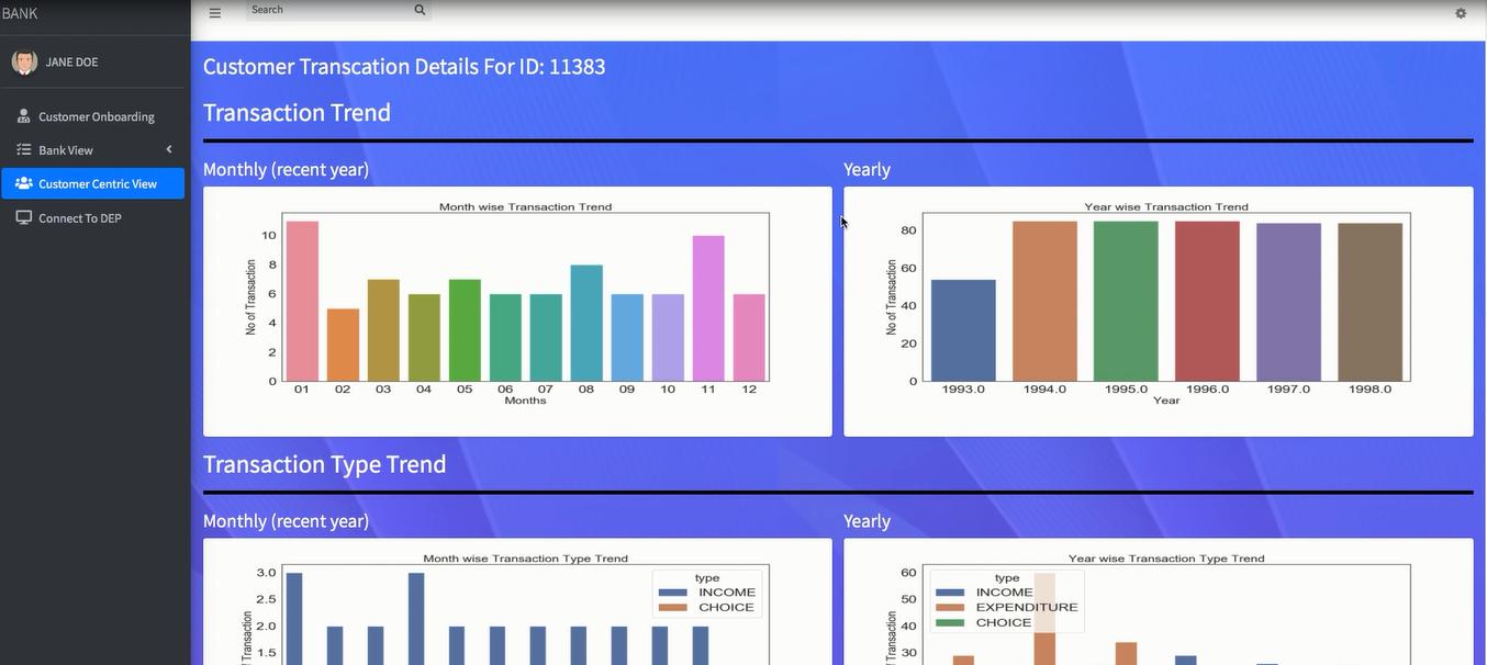 Imagyn.ai customer transaction analytics view