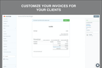 Sunrise Screenshot: Customize your invoices for your clients.