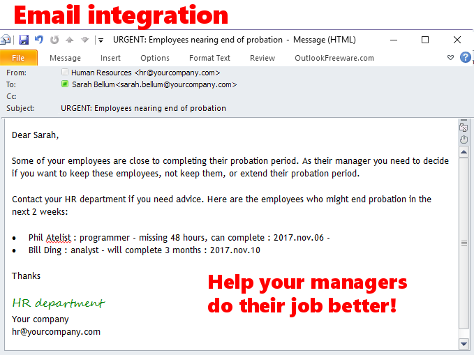 Umana Software - Email integration