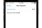 Capture d'écran pour Venmo : Transfer money using a contact's name, @username, phone or email