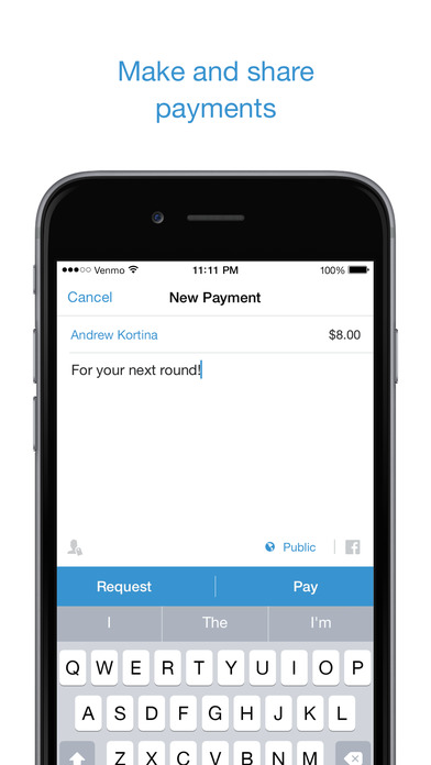 Transfer money using a contact's name, @username, phone or email