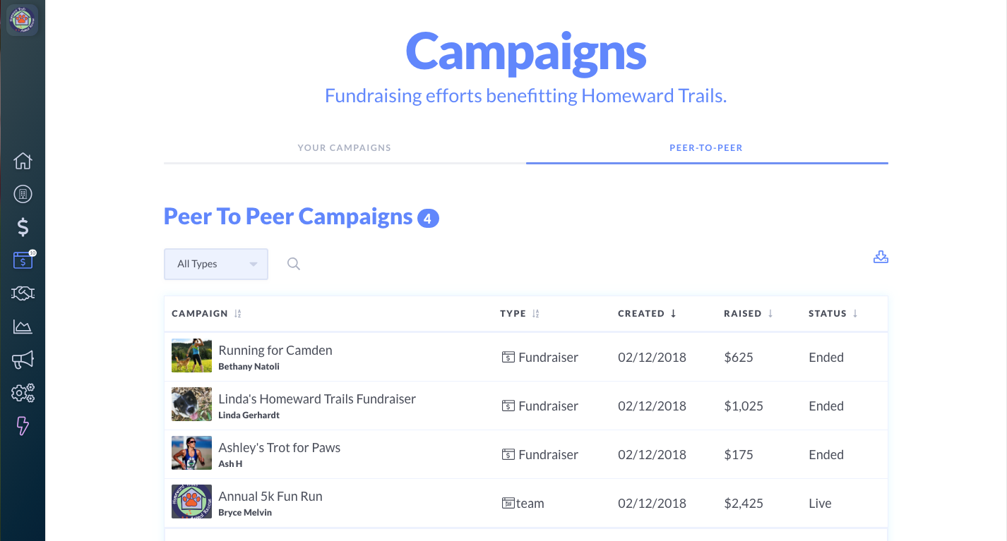 Mightycause Software - Campaigns
