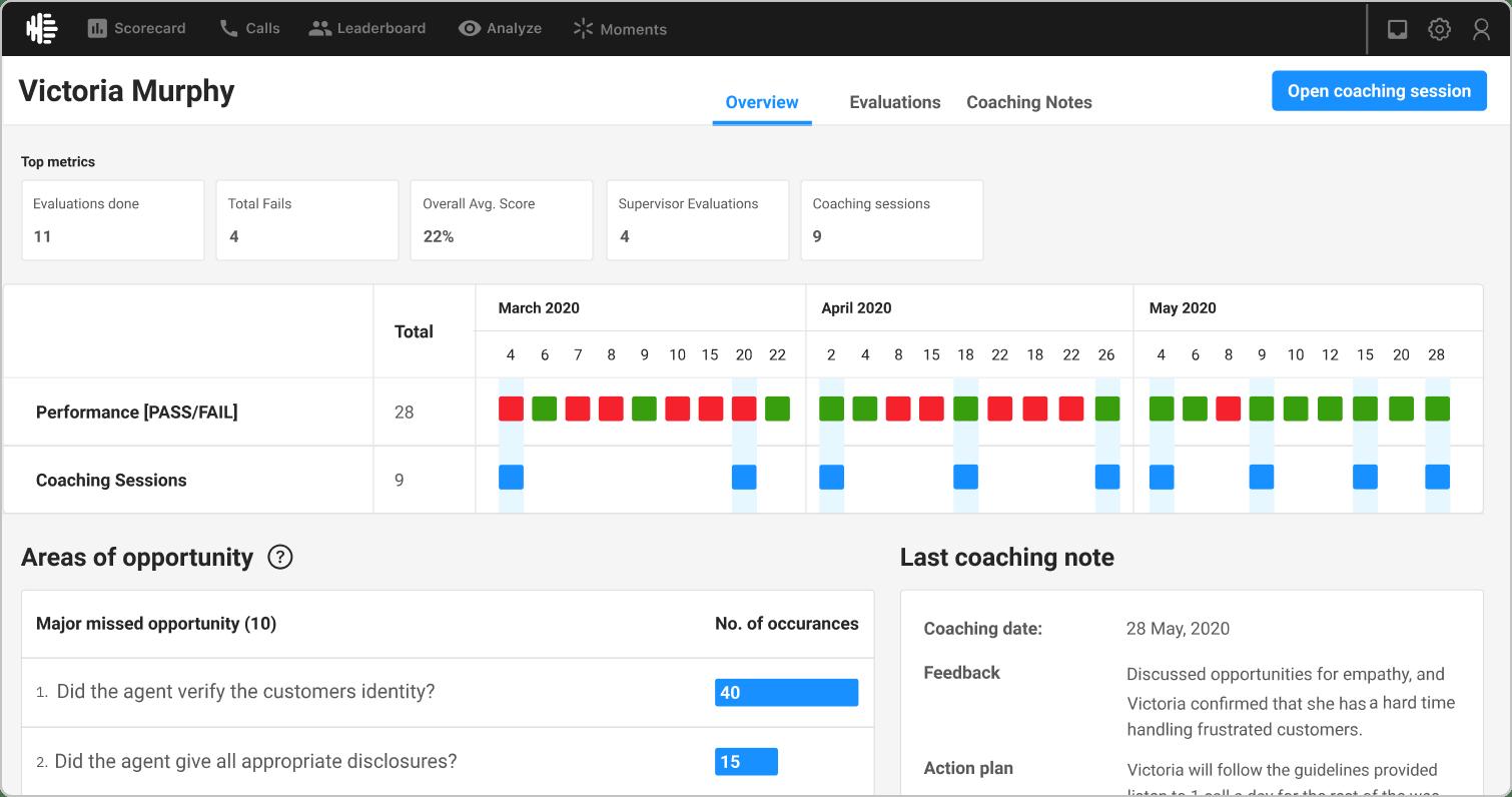 Observe.AI Software - Observe.AI agent coaching