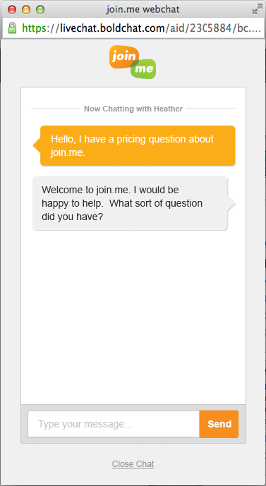Bold360 supports live chat functionality