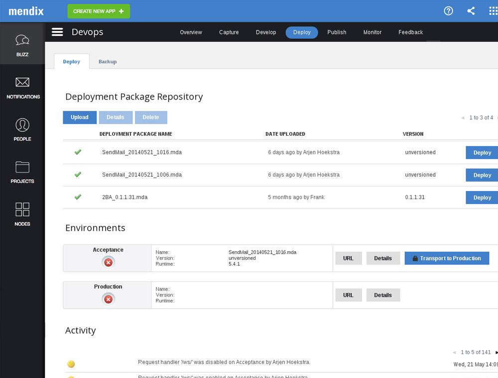 Mendix - 1-Click Deployment: Public Cloud, Private Cloud or On Premise