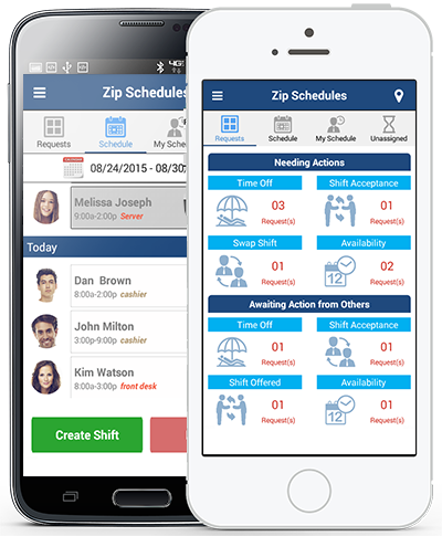 Make schedule changes and assign employee's shifts while on-the-go