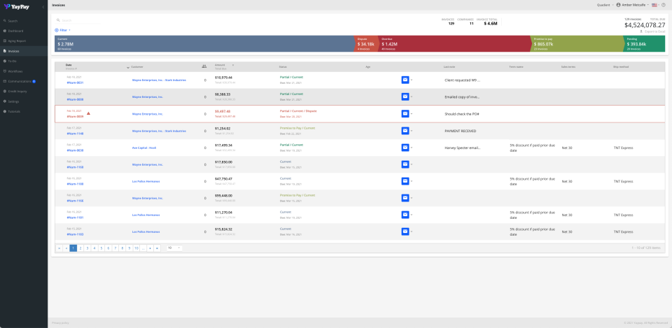 YayPay Software - Invoices