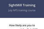 Capture d'écran pour SightMill : Ask delegates to complete NPS surveys at live events, directly from their smartphones