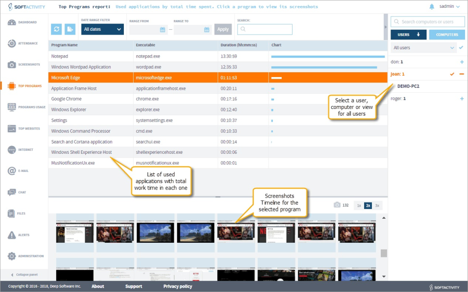 SoftActivity Monitor Software - 4