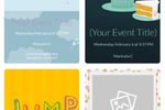 Captura de pantalla de Evite: Evite choose invitation's design