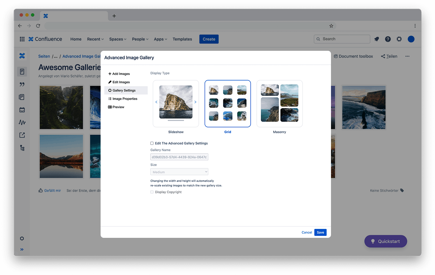 Choose from multiple different layouts. Grid, Masonry and Slider.