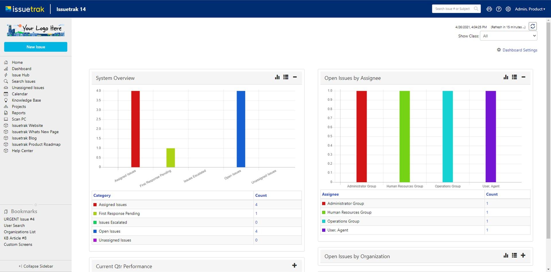 Issuetrak Software - Issuetrak Dashboard